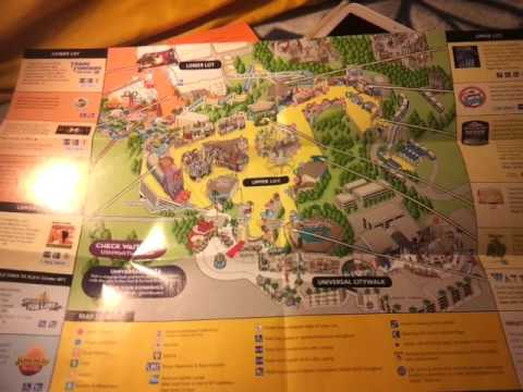 Universal studio map