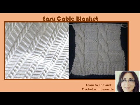 Easy Cable Blanket Youtube
