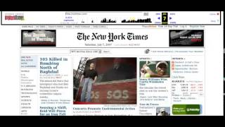 Evolution of the New York Times homepage (1996-2010)