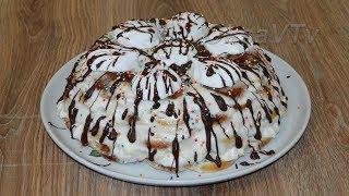 Торт из пряников и зефира. Gingerbread cake with marshmallow.