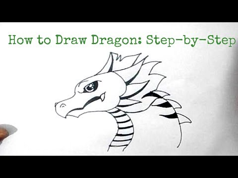 How to Draw a Dragon: Step-By-Step{ Dragon Drawing tutorial } | simple Dragon Drawing