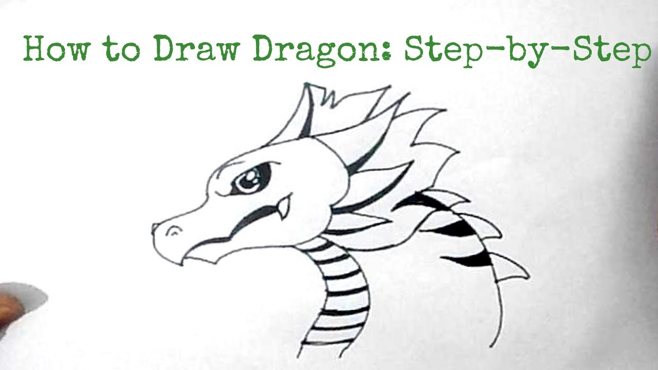 How To Draw A Dragon Step By Step Easy How to Draw a Dragon: ...