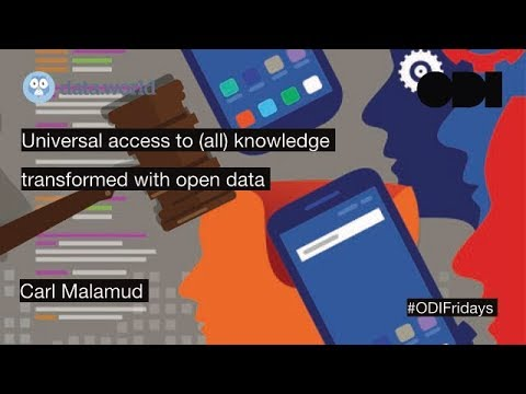ODI Fridays Lunchtime Lecture: Universal Access To (all) Knowledge
