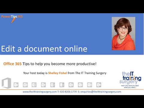 How To Edit A Document Online In Microsoft Office 365