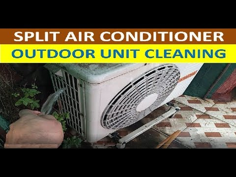Washing of Condender Colis of Split AC Outdoor Unit | Outdoor unit servicing at home in hindi