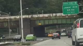 MTA NYCTA: NIS R-160 @ GCP NYCTA Jamaica Yard Facility Bridge (10/13/17)