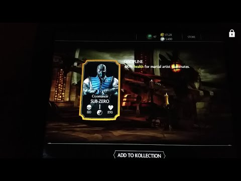 Mortal Kombat X Gold Card in Silver Pack!!