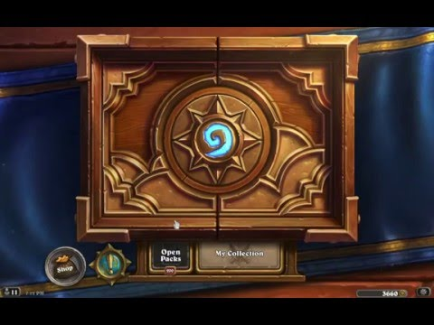 Hearthstone 200 Grand Tournament pack opening
