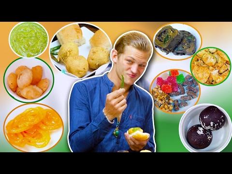American Reacts to Indian Food | feat. Sebastian Sauve | Indian Food Taste Test | Mega Bites