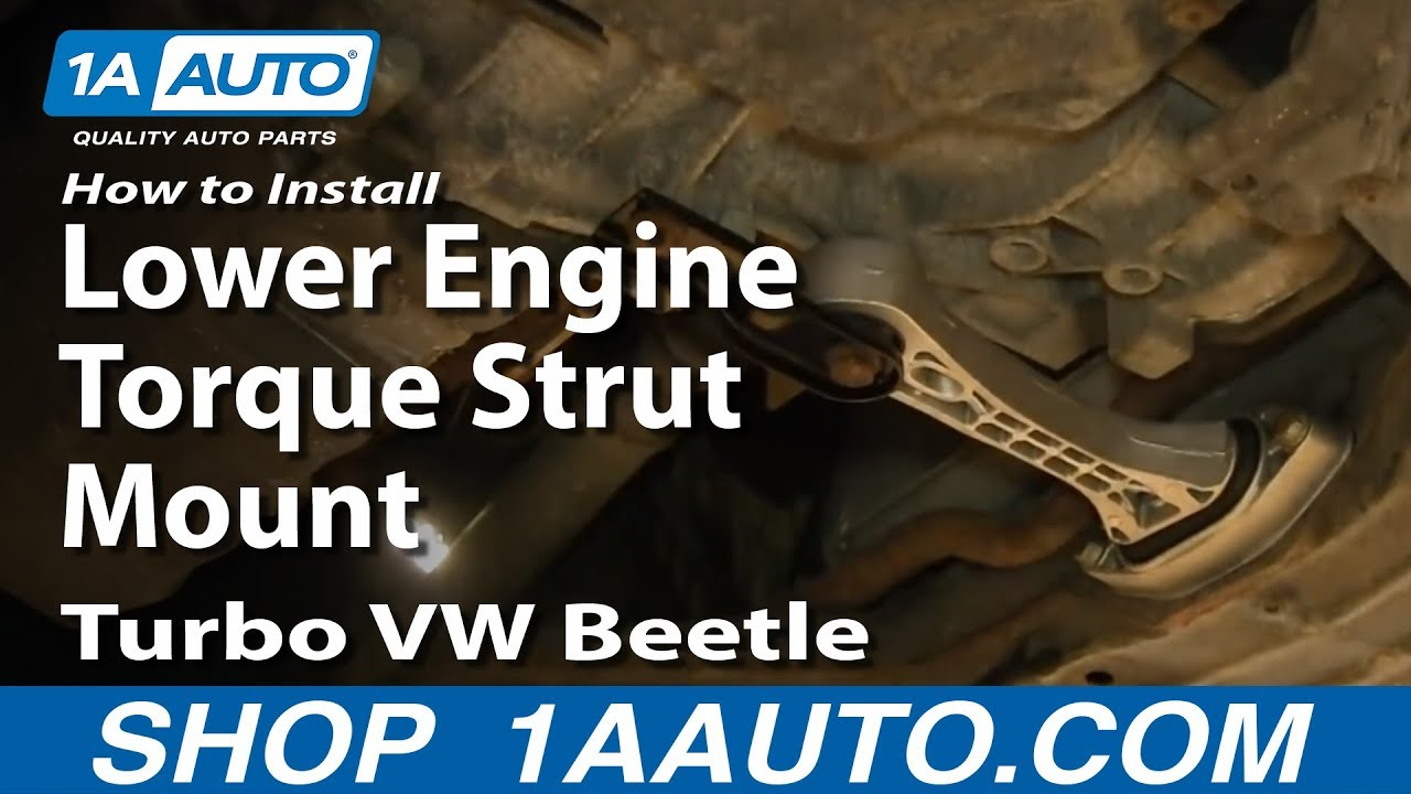 How to install replace lower engine torque strut mount 1999 05 1 8l turbo vw beetle youtube