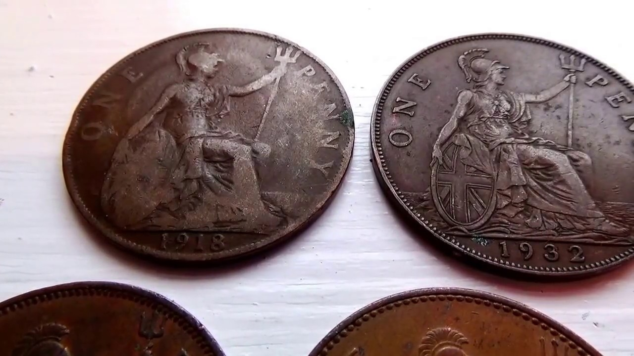 A 1918-1932-1940-1963-1967 Big One Penny Coin