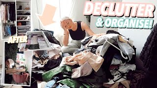 DECLUTTER & ORGANISE MY ROOM WITH ME! As I won't be leaving it for 12 weeks