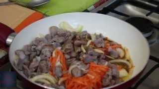 Желудки куриные по корейски