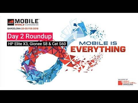 #MWC 2016 Day 2 Roundup - Gionee S8, HP Elite X3 & More