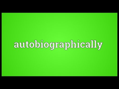 Header of autobiographically