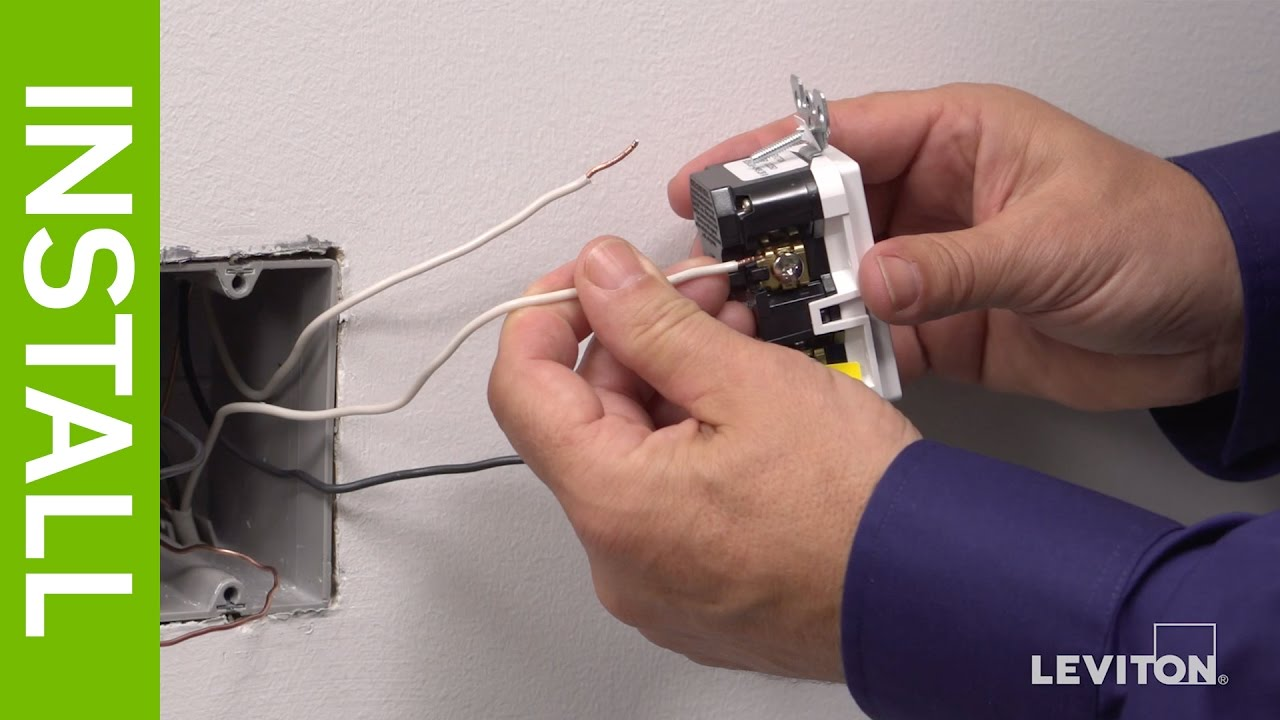 Leviton Presents How To Install Smartlockpro Afci Gfci Outlet Youtube 2 Pole Ground Fault Breaker Wiring Diagram