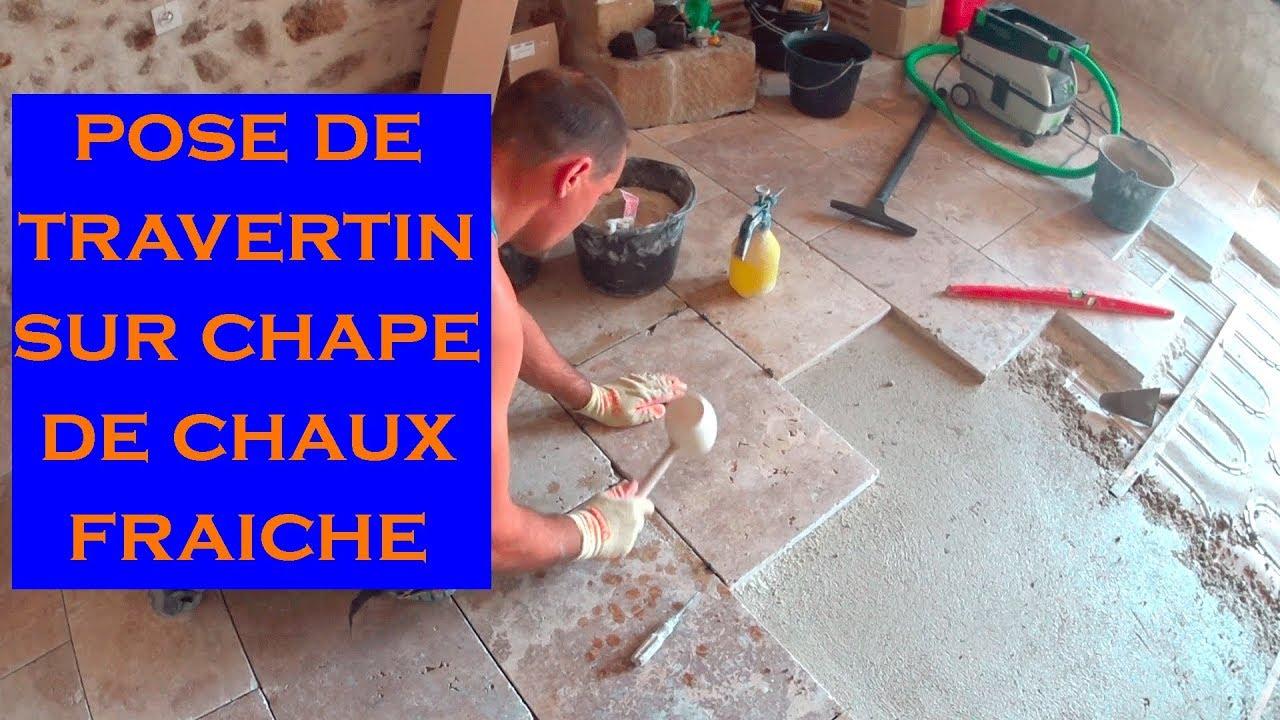 Comment Enlever Colle Carrelage Sur Chape 28. pose dalles en pierre naturelle sur chape de chaux fraÎche (travertin)