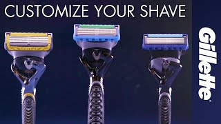 Customizing your shave | Every Gillette Fusion5 blade fits every Fusion5 razor handle