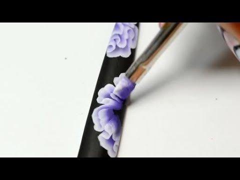 Nail Art Training Flower One Stroke Youtube