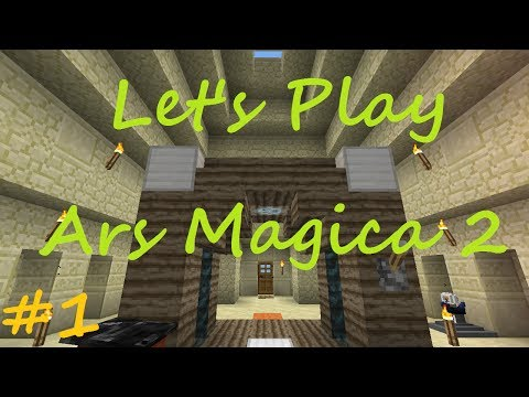 Minecraft - Ars Magica 2 Let's Play - Part 1 - What A Lucky Spawn