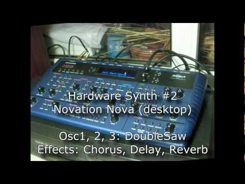 Trance SuperSaw synth comparison: Access Virus TI, Novation Nova vs Sylenth1, Synth1