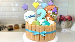 Детский торт на День Рождения Самый вкусный торт Домашний торт Как сделать торт быстро и легко