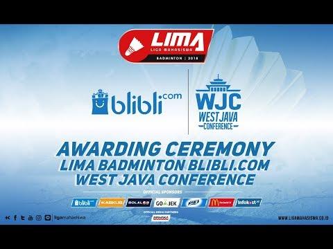 AWARDING CEREMONY LIMA Badminton blibli.com WJC 2018
