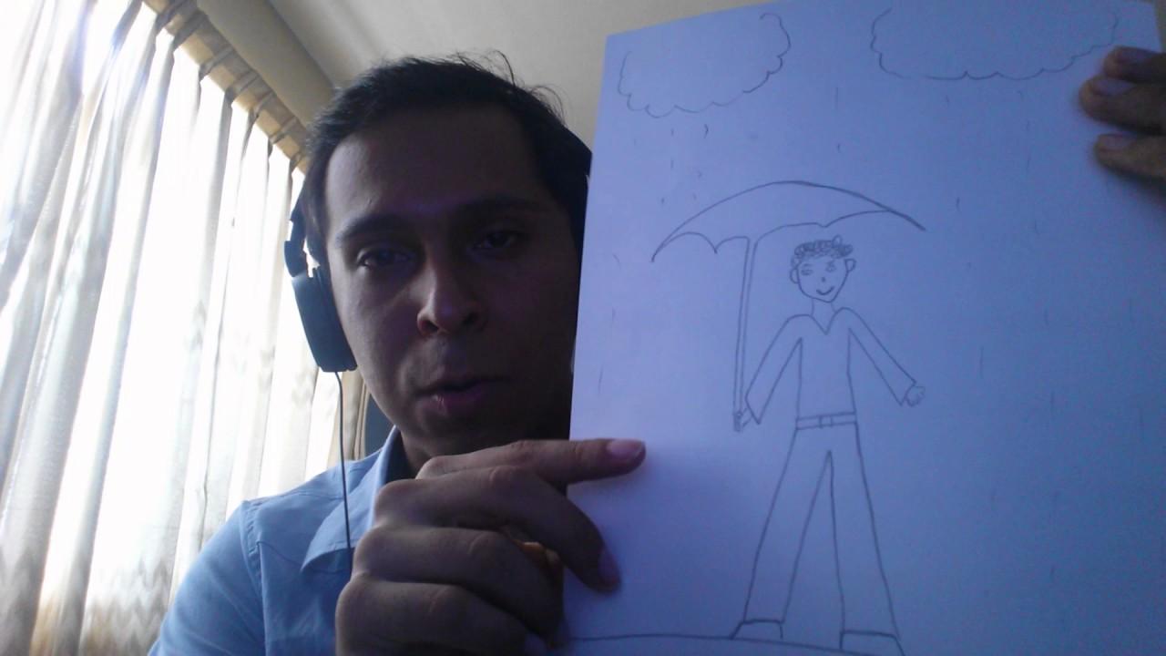 Cómo Dibujar A Una Persona Bajo La Lluvia Youtube