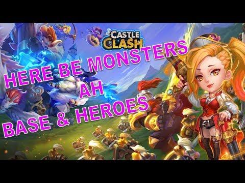 Castle Clash #378 - Here Be Monsters AH Base & Heroes - Schloss Konflikt Hier Kommen Die Monster AH