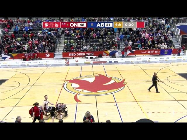 2019 CWG - Wheelchair Basketball - Game 26 - ON vs AB