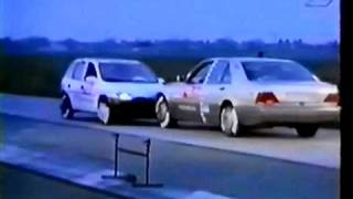 Crash test Opel Corsa vs Mercedes