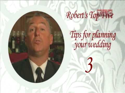 Masters of Reception Rob's Wedding Tips