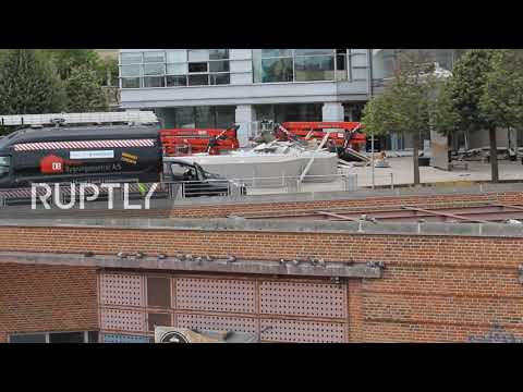 Denmark: Footage shows damaged tax agency office in aftermath of blast