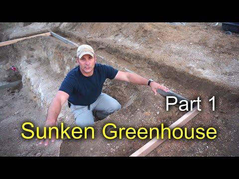 Sunken Greenhouse Part 1:  Dirt work