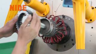 China Automatic fan motor stator coil winding inserter