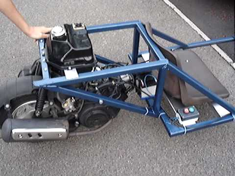 Diy Go Kart Reverse Trike Youtube