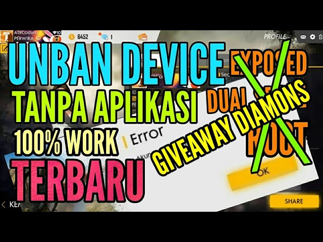 11 27 MB) #GIVEAWAY DIAMONS FF - CARA UNBAN DEVICE FREE FIRE