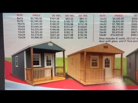 Locally Built Amish / Mennonite Cabins