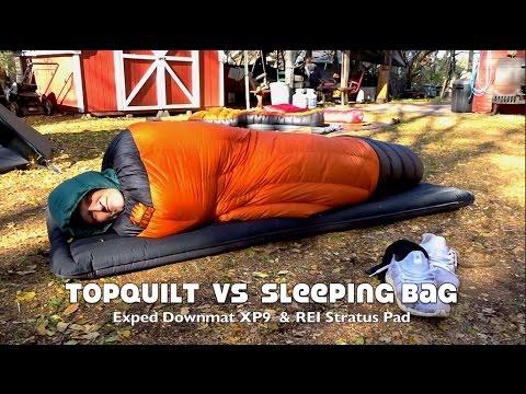 top-quilt-versus-sleeping-bag-on-ground