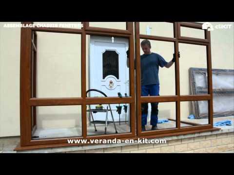 2 assemblage des ch ssis fen tre de votre veranda clikit youtube. Black Bedroom Furniture Sets. Home Design Ideas
