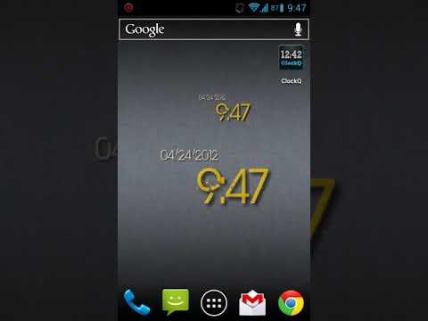 ClockQ 2.0 - Digital Clock Widget (Android)