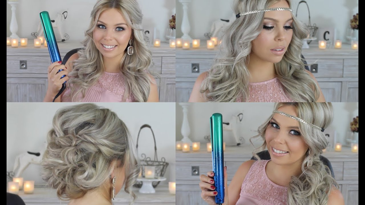 Formal Hair Styles with GHD Hair Straightener ♡ Crystal Conte - YouTube