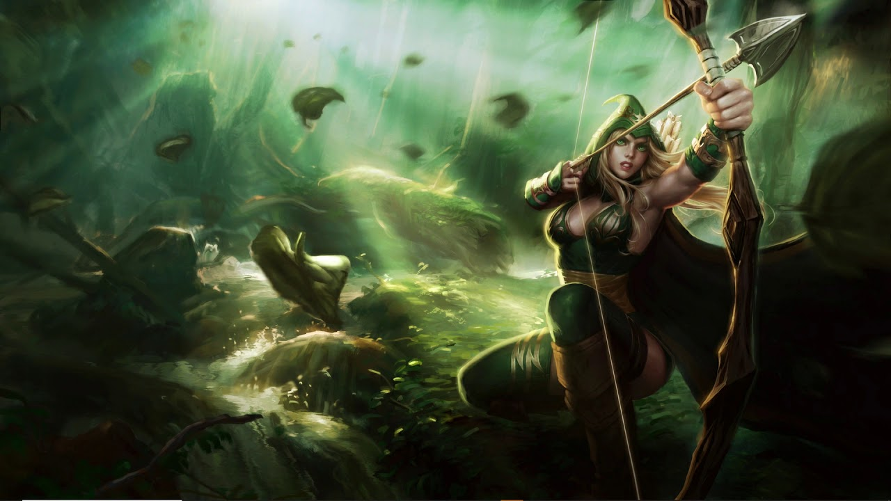 Wallpaper League Of Legends Sherwood Ashe Youtube