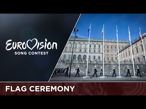 Flag ceremony at the Royal Palace in Stockholm