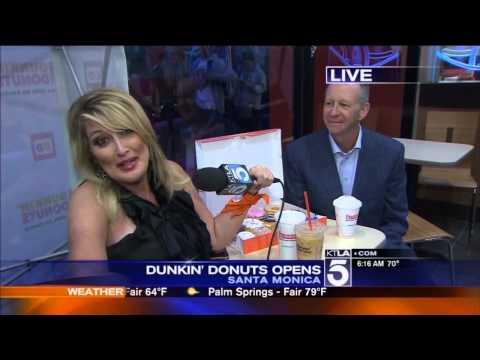 Dunkin' Donuts Opens In Santa Monica, California