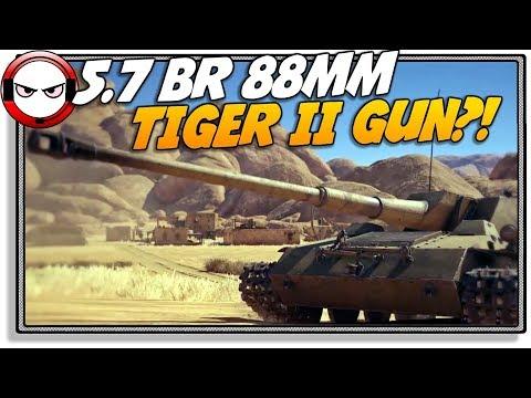 5.7 BR 88MM Tiger II Gun?! Waffentrager! (War Thunder Gameplay)