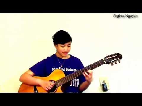 Riêng một góc trời (Ngô Thụy Miên) - Guitar Virginia Nguyen(be Mẫn)