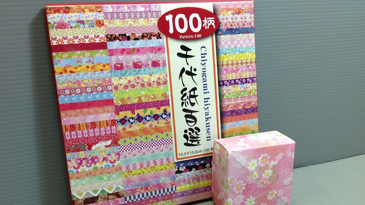 toyo 100 chiyogami patterns origami paper unboxing youtube