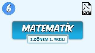 6.Sınıf Matematik | 2.Dönem 1.Yazılıya Hazırlık