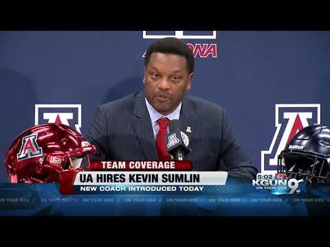Kevin Sumlin introduced as University of Arizona